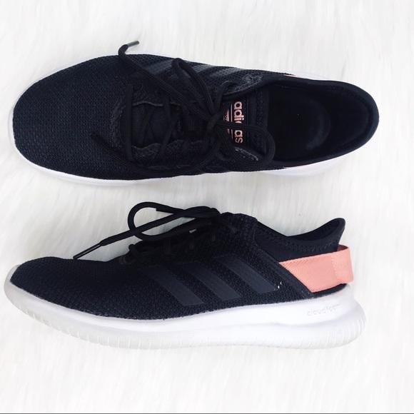 Adidas Cloudfoam QT Black Pink Sneakers Women's 7